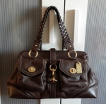 coach daphne satchel brown