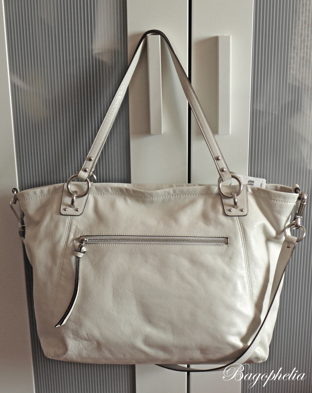 BNWT Coach XL Leather Charm Tote in White  14828  SOLD!   a352710e96b95