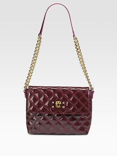 BNWT Marc Jacobs Quilting The Large Single Patent Bag in Bordeaux ... 4f56d5ee5df67